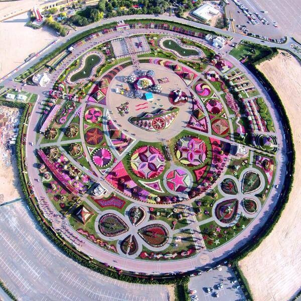 Dubai Miracle Garden. Image found on icosnap.com