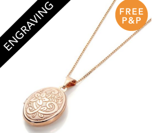 9ct Rose Gold Oval Locket - £75.50