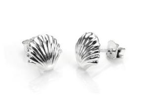 Sterling Silver Small Seashell Stud Earrings - £6.00
