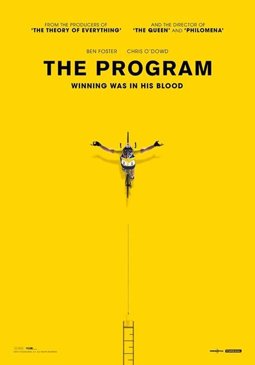 lance armstrong 'the program' biopic movie poster