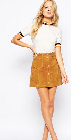 Monki A-line 70'S Suede Skirt - £60