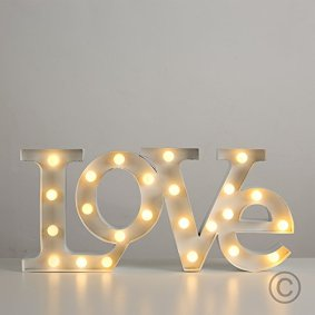Contemporary-Warm-White-24-LED-Battery-Operated-LOVE-Shaped-Decorative-Wall-Light-0